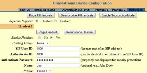 Grandstream Handset