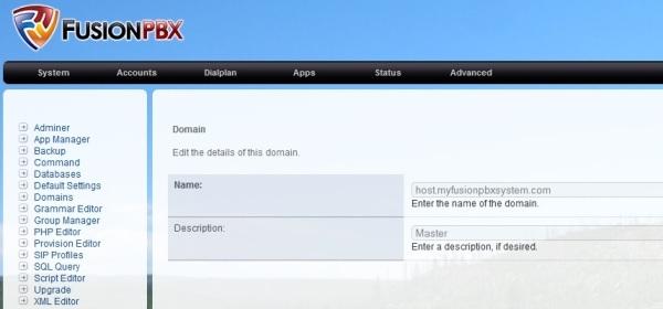 FusionPBX Domains
