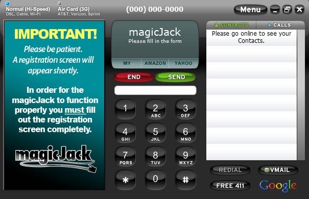 magicJack Plus dialer