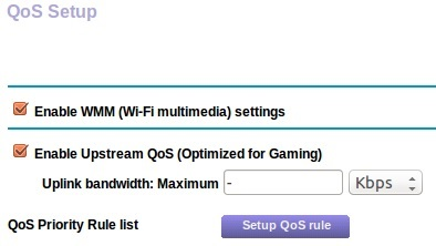 QoS reserve bandwidth