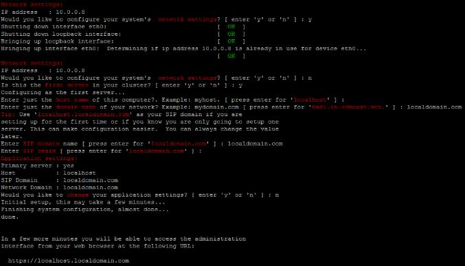 sipXecs Preliminary Configuration