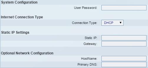 SPA504G system menu