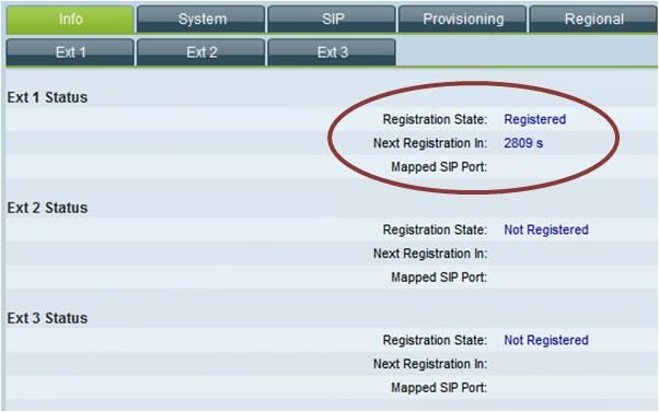 SPA303 Info status
